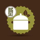Big sale food healthy cooking. Vector illustration eps 10 royalty free illustration