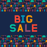 Big sale of furniture. Design a flyer or banner for shop interio. Rs. Vector illustration. Flat style vector illustration