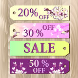 Big sale, Gift certificate, Coupon template. Spring design. Royalty Free Stock Image