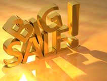 Big Sale Gold Text Royalty Free Stock Photography