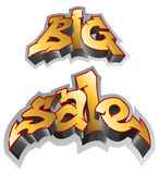 Big sale. Graffiti style. Inscription, urban art. Vector Illustration Stock Image
