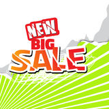 Big sale graphic object Royalty Free Stock Photos