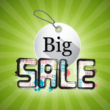 Big Sale Green Background Royalty Free Stock Photos