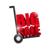 Big sale hand truck illustration design Royalty Free Stock Images