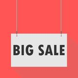 Big sale Hanging Sign. Hanging Sign big sale, vector icon Royalty Free Stock Photo
