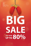 Big sale heading banner poster. Sale and discounts. Vector illus Stock Photography