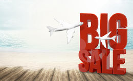 Big sale holiday beach travel 3d render. Graphic Stock Photography