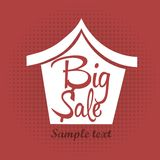Big sale house Royalty Free Stock Photos