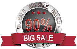 90% big sale icon Stock Images