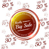 Really big sale icon on the numerical background Royalty Free Stock Photography