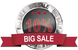 10% big sale icon Royalty Free Stock Image