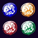 Big Sale Icons Set. Royalty Free Stock Image