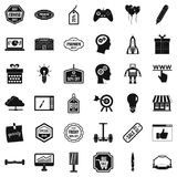 Big sale icons set, simple style Stock Photography