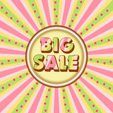 Big sale illustration Royalty Free Stock Image