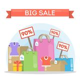 Big sale illustration. Royalty Free Stock Photography