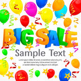 Big sale inscription on background Stock Photos