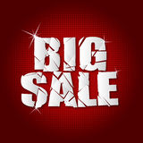 Big sale  inscription broken Royalty Free Stock Image