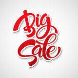 Big Sale Inscription. Calligraphy. Lettering Royalty Free Stock Images