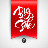 Big Sale Inscription. Calligraphy. Lettering Stock Images