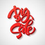Big Sale Inscription. Calligraphy. Lettering Stock Photography