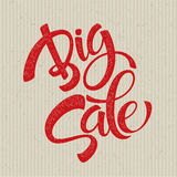 Big Sale Inscription. Calligraphy. Lettering Royalty Free Stock Photos