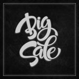 Big Sale Inscription. Calligraphy. Lettering Royalty Free Stock Image