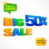 Big sale inscription 50 Stock Photo