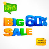 Big sale inscription 60 Royalty Free Stock Photos