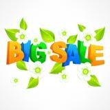 Big sale inscription spring Stock Photo