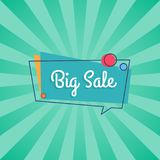 Big Sale Inscription in Speech Bubble with Circles Stock Photography