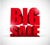 Big sale inside a paper pocket business sign Stock Images