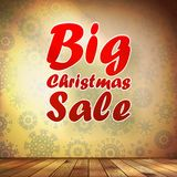 Big Sale interior decorated snowflakes. EPS 10 Royalty Free Stock Photo
