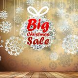 Big Sale interior decorated snowflakes. EPS 10 Stock Photography
