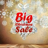 Big Sale interior decorated snowflakes. EPS 10 Stock Image