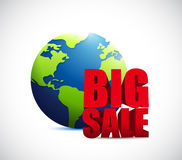Big sale international globe business sign Royalty Free Stock Images