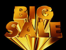 Big Sale isolated over black Royalty Free Stock Photo