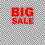 Big sale isolated over white background. Royalty Free Stock Photo