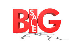 Big sale isolated on white background Royalty Free Stock Photography