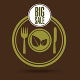 Big sale kitchen food healthy. Vector illustration eps 10 royalty free illustration