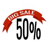 Big Sale Label. Abstract big sale label on a white background Royalty Free Stock Image