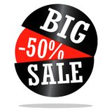 Big Sale Label. Abstract big sale label on a white background Stock Images