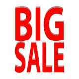 Big Sale Label. Abstract big sale label on a white background Stock Photography