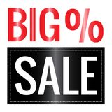 Big Sale Label. Abstract big sale label on a white background Royalty Free Stock Photography