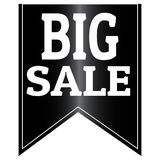 Big Sale Label. Abstract big sale label on a white background Royalty Free Stock Images