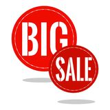 Big Sale Label. Abstract big sale label on a white background Royalty Free Stock Photo