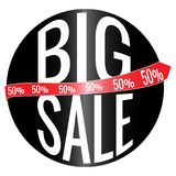 Big Sale Label. Abstract big sale label on a white background Stock Photos