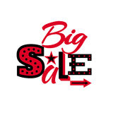 Big Sale label isolated on white background. Stock Photography