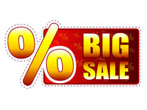 Big sale label with percentage symbol Stock Images