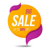 Big sale label price tag banner sticker badge template design. Royalty Free Stock Image