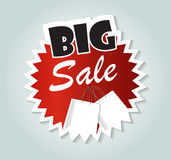 Big Sale Label Sign for Your Business. Vector Illustration Stock Photo